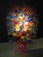 Chine magasin d'usine contemporaine Multicolore Lustre en cristal de couleur Blown en verre de Murano Grand pendentif Lampes pour Villa Décoration