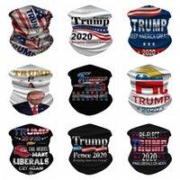 Trump Maschera Maschere lavabile elezioni americane di stampa esterno antipolvere Ciclismo collo magica Sciarpa di riciclaggio Designer mascherina del partito RRA3223
