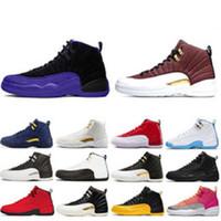 Yeni Adam basketbol ayakkabıları 12 Bulls CNY Oyun Kraliyet UNC Üniversitesi Mavi 12 12s Erkek Açık ayakkabı spor ayakkabı 36-47