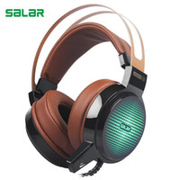 C13 Wired Gaming Headset head- mounted glow gaming headset De...