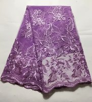 French Lace Fabric High Quality African Tulle Lace Fabric Gu...