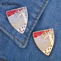 2019 New Autumn Tree Enamel Pin Badge Sunset View Breastpin ...