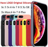 Have LOGO Original Silicone Case For IPhone XR XS Max For Ap...
