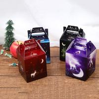 caja de dulces resplandor 4 estilos copo de nieve estrella alce de dibujos animados DIY de Navidad de diseño de Navidad resplandor manzana caja de regalo envuelto envío libre