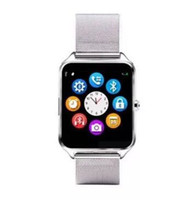 Bluetooth Smart Watch Phone Z60 Supporto in acciaio inossidabile SIM TF Card Camera Fitness Tracker GT08 DZ09 A1 V8 Smartwatch per IOS Android