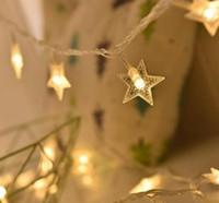 10 M 6 M 4 M 3 M küçük beş köşeli yıldız pil ışığı boncuklu yıldız tatil düğün Noel dekorasyon dize ışıkları
