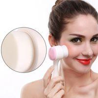 Silicone de lado duplo Cleanser Facial ferramenta portátil 3D Rosto limpeza da escova face da limpeza Massagear lavagem produtos Skin Care