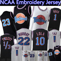 Space Jam Jersey Uomo 23 Michael 1 Bugs Bunny 2 Daffy Duck Lola Bunny 10 13 22 Tweety Bill Murray Basketball Maglie Nero Bianco