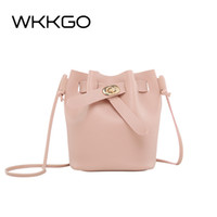Designer WKKGO Fashion Candy Color Handbag Ladies Clutch Coin Purse Crossbody Pack Shoulder Messenger Borse Mini Shopping Bucket Borsa da donna
