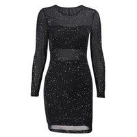 Zarif Bayan Elbise 2018 Sonbahar Uzun Kollu Tunik Elbise Siyah Pembe Mavi Uzun Kollu Mini Partisi