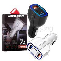 35W 7A 3 portas Carregador de carro tipo C e carregador USB QC 3.0 com Qualcomm Quick Charge 3.0 Tecnologia para celular GPS Power Bank Tablet P