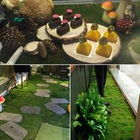 1m * 1m 부활절 밀짚 매트 녹색 인공 잔디 카펫 가짜 잔디 홈 가든 모스 홈 바닥 DIY 결혼식 장식 잔디