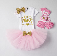 4Colors Ins Baby girl clothing Birthday tutu skirt Romper Ou...