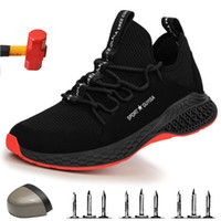 Steel Toe Safety Shoes Industrial & Construction Puncture Pr...