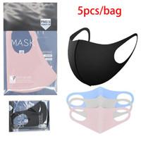 5 pcs / sacs de sacs de protection visage couvercle de la bouche PM2.5 Masque Respirateur Raimabel anti-poussière Reusabel Coton Silk Coton Masques BOOM2016