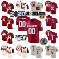 Personalizado Oklahoma Sooners Jerseys Jalen fere o Kyler Murray Baker Mayfield Adrian Peterson Brian Bosworth NCAA Football Homens Mulheres juventude caçoa