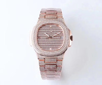 TW pieno diamante versione platinum 5719 / 1G montre de luxe movimento 324c orologi 50m impermeabile diamante spessore 10 millimetri orologio