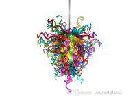 AC 110 V 120 V 220 V 240 V multicolor de soplado dormitorio lámpara de cristal de luz decorativos de cristal de Murano Nuevo Estilo Italiano Araña