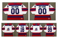 Vintage Indianapolis Racers Jersey 11 Marcos Messier 99 Wayne Gretzky White Custom Cualquier nombre CCM Hockey