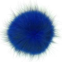 Soluk Haki Boyalı Büyük Rakun Kürk Topları Aksesuarları Beanie Hats Için Özelleştirilmiş Renkler Metal Snap Button