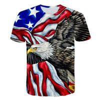 14 styles différents Lions Eagle 3D Imprimer T-shirt pour homme à manches courtes Plus Taille M-5XL Hommes Designer Vêtements de concepteur