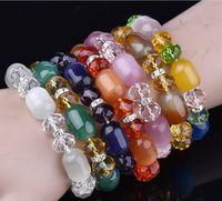 Frost Амазонит и CZ бисер Stretch браслет для женщин Boho ювелирных изделий с натурального камня Druzy кисточкой браслет