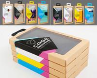 Paquete de papel Kraft de varios colores al por menor Caja de papel de embalaje para los accesorios de la caja del teléfono móvil DHL libre