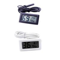 السلكية الرقمية LCD رطوبة متر الرطوبة اختبار درجة حرارة حوض السمك ميزان الحرارة مع التحقيق شحن مجاني