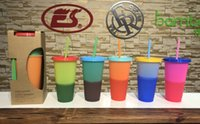 The latest 24OZ can customize the Starbucks logo, pour water, plastic thermochromic cup, environmentally friendly PP material,