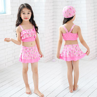European and American girls and children swimwear cartoon pi...