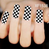waterproof water decals Nails Art Sticker flower design girl...