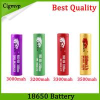 Qualidade superior IMR 18650 Bateria 3000 mah 3200 mah 3300 mah 3500 mah 40A Impressão de leopardo MAX50A 50A 2600 mAh Bateria recarregável FEDEX UPS grátis