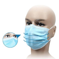Non Woven Disposable Face Respirator Mask 3 Layer Earloop Ac...
