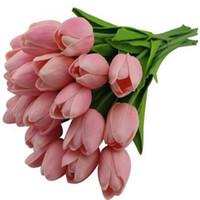 اللاتكس الزنبق الاصطناعي PU زهرة باقة لمسة حقيقية الزهور لتزيين المنزل الديكور زفاف الزهور 11 الألوان الخيار