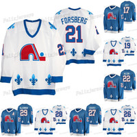 21 Peter Forsberg Quebec Nordiques Heritage 29 Nathan Mackinnon Ian Cole Ryan Graves Peter Stastny Colin Wilson Joe Sakic Tyson Jost Jersey