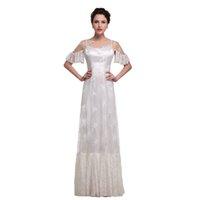 2021 Свадебные платья Плюс Размер Свадебные платья A-Line Кружева Подробнее Картинки IVORY Beach Страна Западные свадебные платья