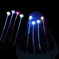 Fibra Óptica Luminescência Plait Led Light Up Brinquedos Flash Peruca Popular Criativo de Alta Qualidade E Barato 0 8 S J1