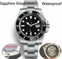 2019 Glide Замок люкс Керамические Mens Ободок Sapphire 2813 Механические автоматические движения SS моды часы мужские дизайнерские часы Наручные часы