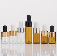 Bunte Dropper-Pyrex-Glas-Flaschen-Aufbewahrungstest-Saft leer 1ml 2ml 3ml 5 ml Mini-Kapazitätsbehälter für E-Zigarette-VAPE-Öl-heiße Kuchen DHL