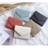محفظة جلدية للنساء من الجلد متعدد الألوان عملة محفظة سيدة قصيرة المحفظة حامل بطاقة محفظة سيدة الكلاسيكية سحاب صغير جيب بالجملة
