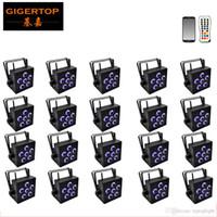 Precio al por mayor 20 paquetes 6x18W DJ Libertad de batería inalámbrica Par LED UV RGBWA 6 color 6en1 DFI etapa de lavado envío Luz