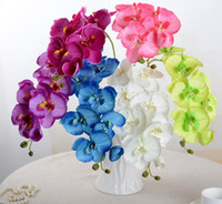 NEW Реалистичная Искусственные бабочки цветок орхидеи фаленопсис Шелковый Свадьба Главная DIY украшения Поддельные Цветы Бесплатная доставка