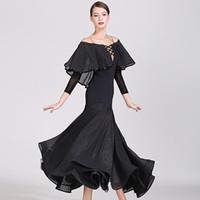 Sahne Giyim Balo Salonu Elbise Kadın Dans Waltz Rumba Kostümleri Dans Elbise İspanyol Flamenko