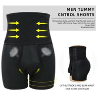 Hommes taille haute Tummy contrôle Culotte Boxer amincissants Body Shaper Short Butt Lifter amincissants Fitness Shaping Sous-vêtements Taille Plus 6XL