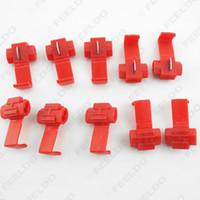 50pcs connettori di filo rosso scotch lock auto terminali rapidi giuntura a crimpare Codice: 2313