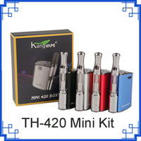 Original Kangvape Mini 420 Caixa Kit 400 mAh VV Bateria Mini TH-420 Mod 0.5 ml 510 Cartuchos de Óleo Grosso Vape vs mini k 2287006