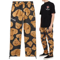 PALM ANGELS Mens Track Pants Bear Printed Autumn Casual Loos...
