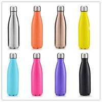500 مل مخصص كولا شكل زجاجة ماء الفولاذ المقاوم للصدأ زجاجة الرياضة الحرارية الترمس زجاجة ماء للخارجية