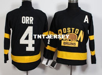 Boston Bruins #4 Bobby Orr MEN' S Hockey Jersey Embroide...