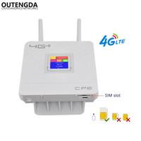 4G Wi-Fi Маршрутизатор 300 Мбит / с беспроводным Wi-Fi Mobile LTE / 3G / 4G Разблокированный CPE Маршрутизатор CPE с Sim Slot 4Lan Ports Поддержка нескольких полосных полос 32 пользователей